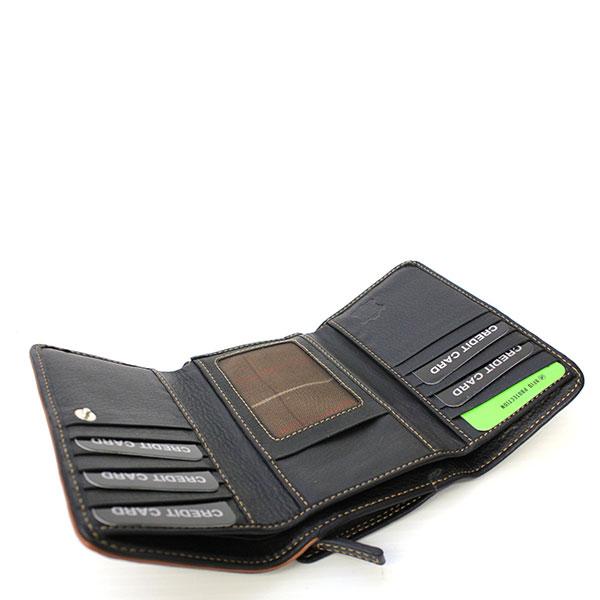 orte Monnaie en Cuir r/éf F3763 Noir 3 Couleurs Disponible