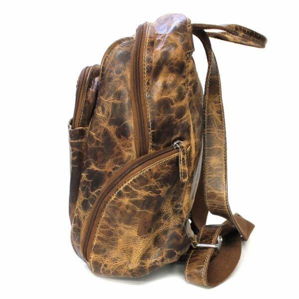 sac à dos en cuir véritable vintage de marque hunt