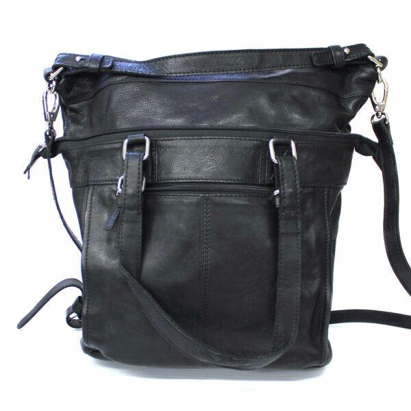 sac à main 2 en 1 en cuir véritable de qualité de marque Hunt avec style vintage