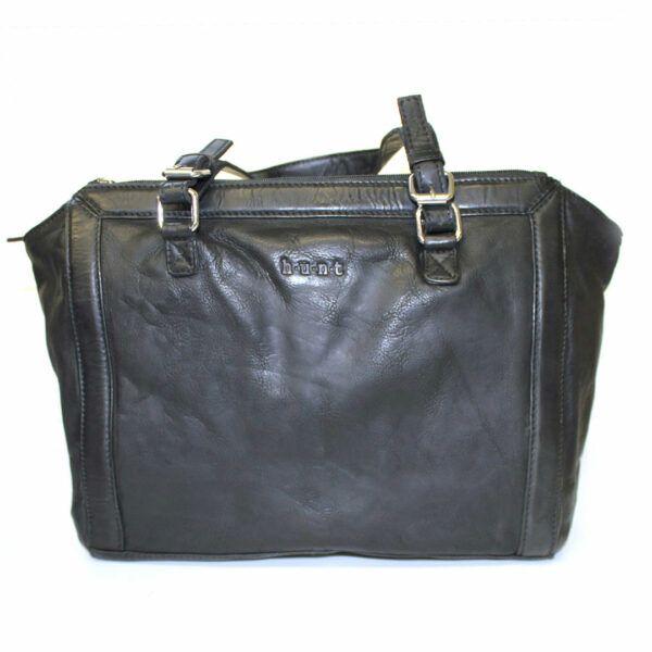 Fourre-tout en cuir véritable de qualité de marque Hunt avec style vintage