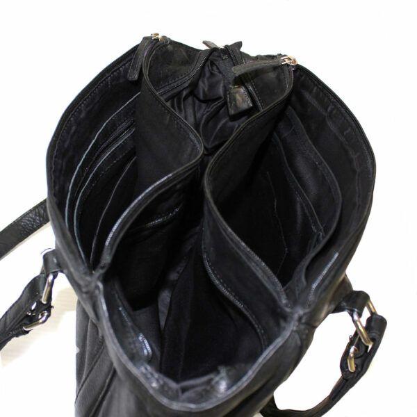Fourre-tout en cuir véritable de qualité de marque Hunt avec style vintage et plusieurs compartiments